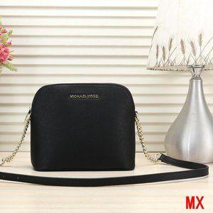 Michael Kors Cindy Crossbody Black MK Shell Bag